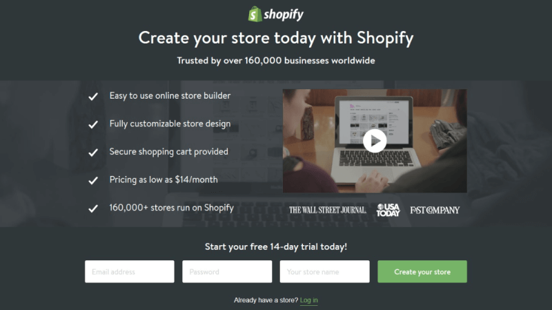 shopify-landing-page